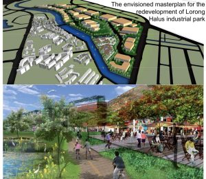 The envisioned masterplan for the redevelopment of Lorong Halus industrial park